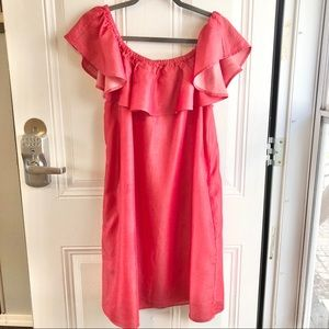 Philosophy bright coral women's dress. Size Large